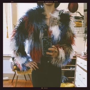 ⚡️ NWT ASTR the Label Shaggy Faux Fur Jacket